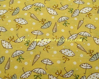 2013D  - 1 meter Cotton fabric  -  Umbrella (Yellow)