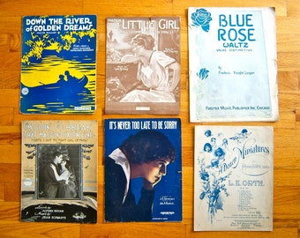 Vintage Sheet Music Assortment 1899 - 1930