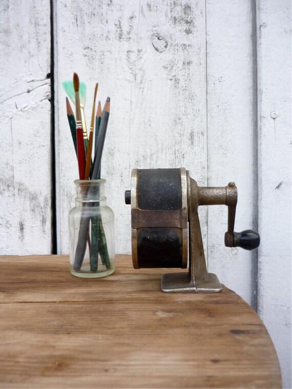 vintage industrial pencil sharpener