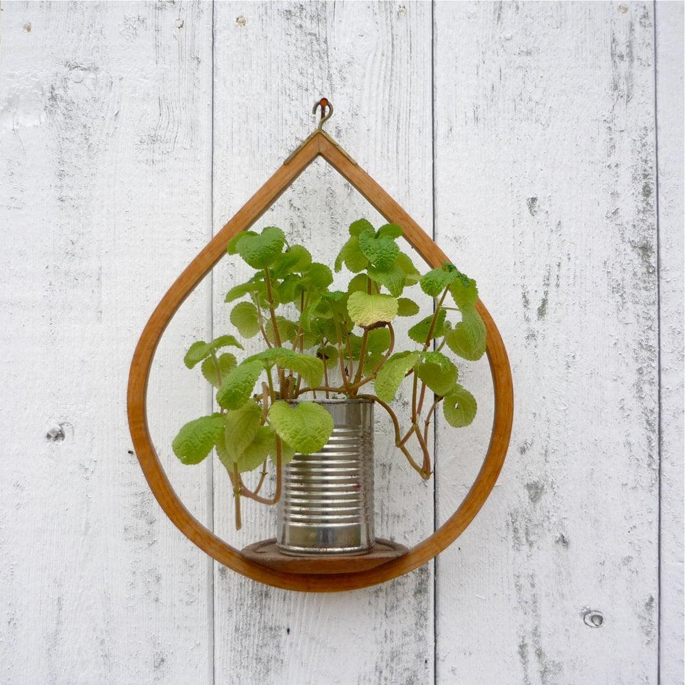 midcentury wooden plant holder modern hanging candle holder. Black Bedroom Furniture Sets. Home Design Ideas