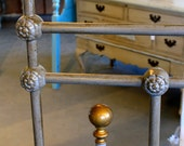 RESERVED Antique Metal Headboard and Footboard for Queen Bed