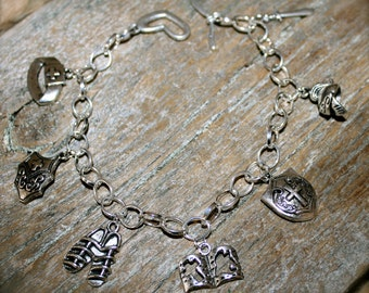 Armor of God Handmade Charm Bracelet, Plus Free Bible Charm, by Okrrah
