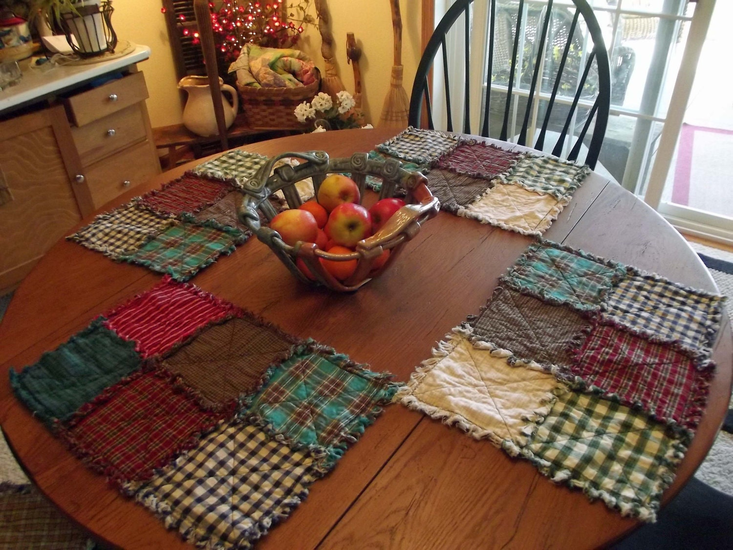 Handmade Rustic Rag Quilt Placemats Rag Quilts