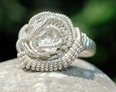 Wire Wrapped Ring Any Size Custom Handmade Sterling Silver Ring
