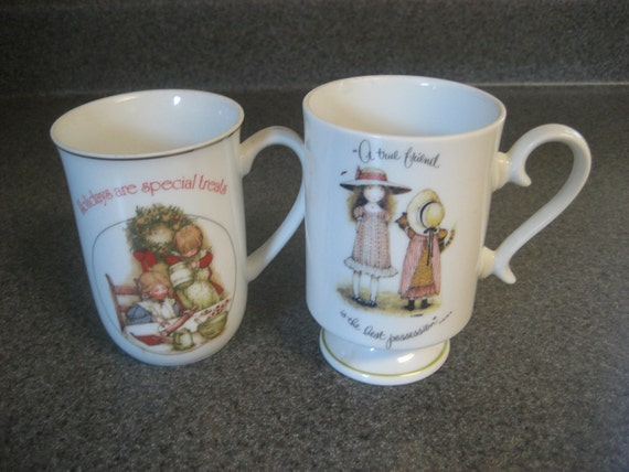 2 Vintage Holly Hobbie Collectible Mugs
