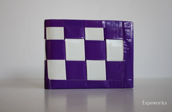 Duct Tape Woven Wallet- Purple & White
