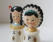 Vintage American Indian Salt and Pepper Shakers