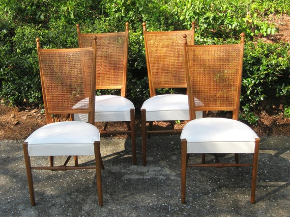 Mid Century Modern Dining Chairs, Drexel Declaration, Set of 4