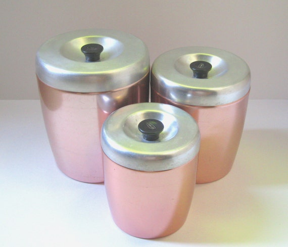Kitchen Canister Set, Cottage Chic Decor