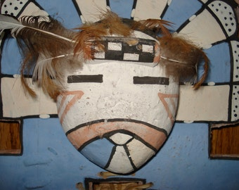 Vintage Traditional Tablita Head Dress for Young Girl Santa Clara Pueblo Sun Dance...Genuine Rare Colored Native American Article