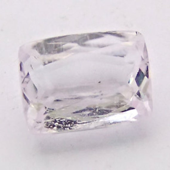 4.43 CARAT AFGHANISTANINATURALLY Pale pale Pink Kunzite in Emerald  Cut Stunningly Beautiful Small Gemstone