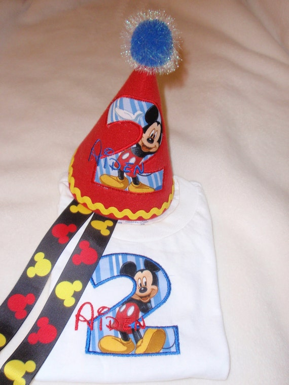 Mickey Mouse birthday outfit hat and shirt