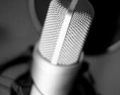 Black & White Microphone 8 x 10