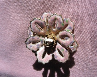 Vintage Pink and Purple Layered Flower Pin