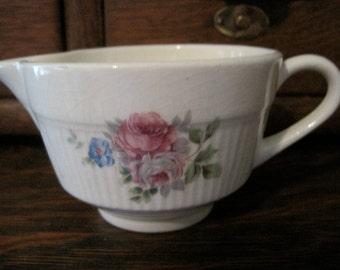 Vintage 40's - 50's Pink Roses China Creamer