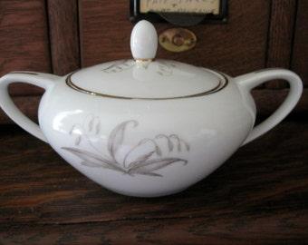 Vintage Kaysons Golden Rhapsody China Sugar Bowl