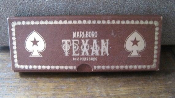 Marlboro Texan No. 45 Poker Cards in box