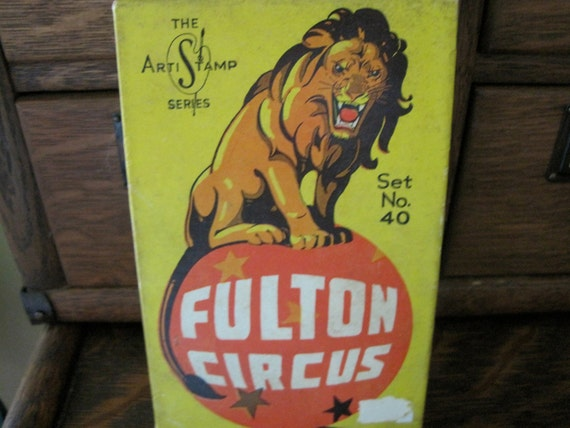 Vintage Fulton Circus Rubber Stamp Kit