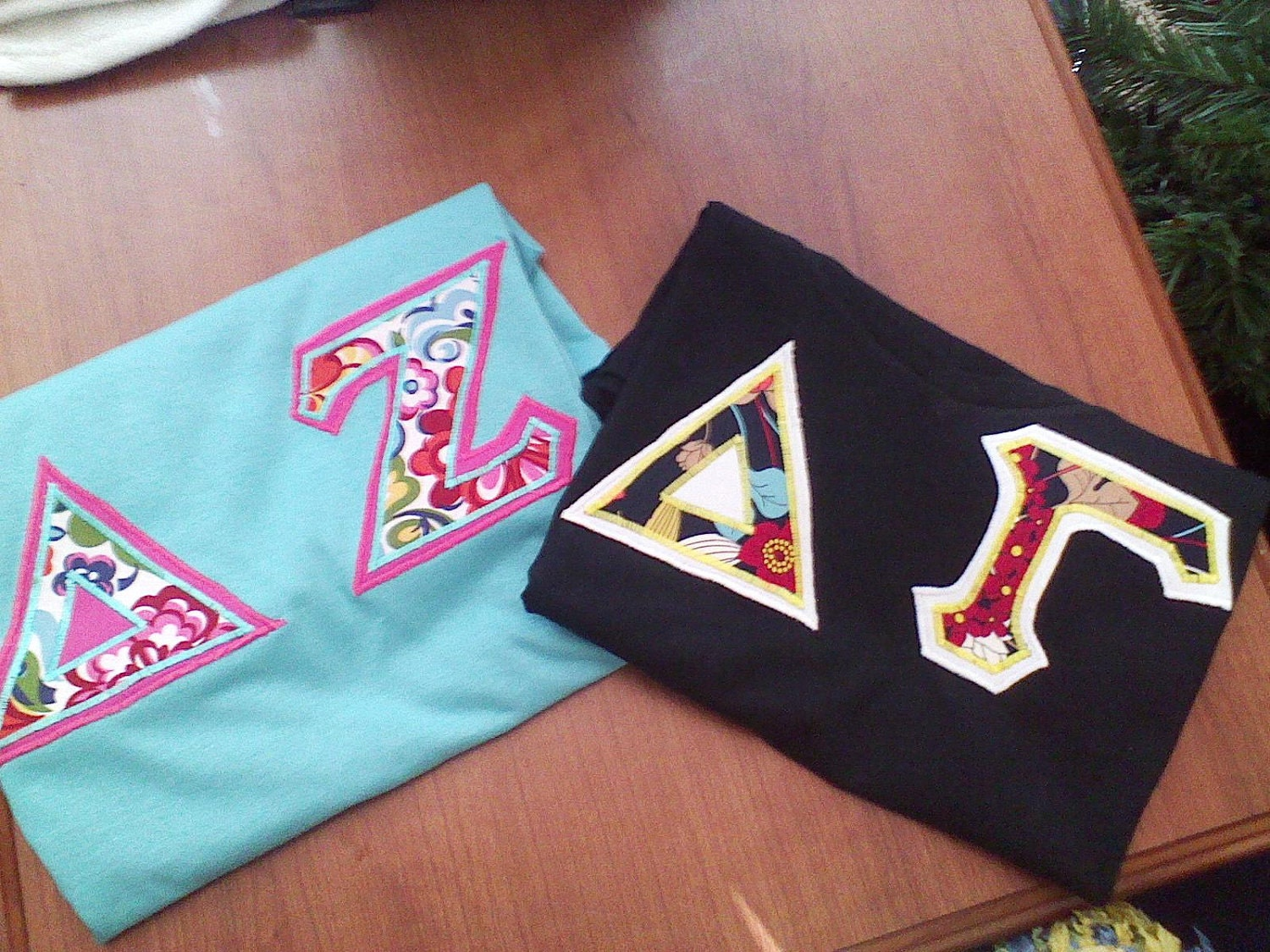 Custom vera bradley greek letter shirts for Custom greek letter t shirts
