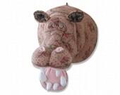 Hippopotamus's stuffed animal (wall hanging)