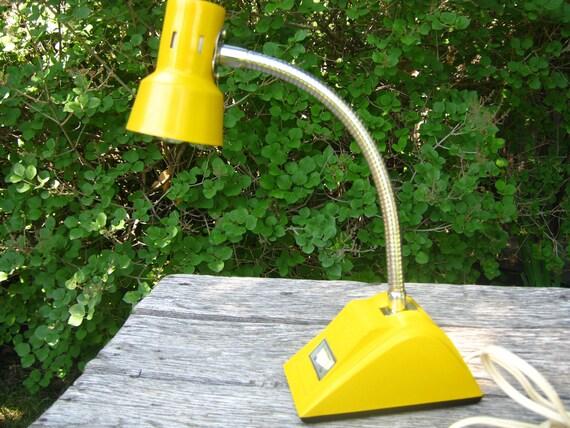 Vintage Sunshine Yellow Desk Lamp - Gooseneck Yellow Desk Lamp
