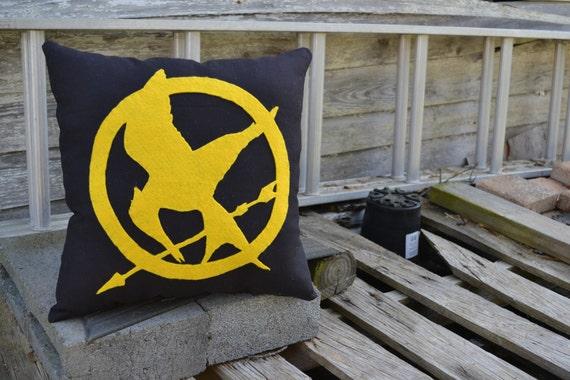 The Hunger Games Mockingjay Pin Pillow
