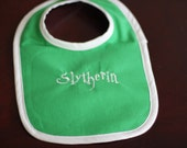 Harry Potter Baby Embroidered Slytherin Bib