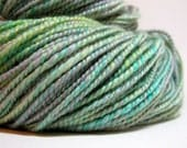 Verdigris - OOAK Handspun Yarn BFL Wool Two Ply