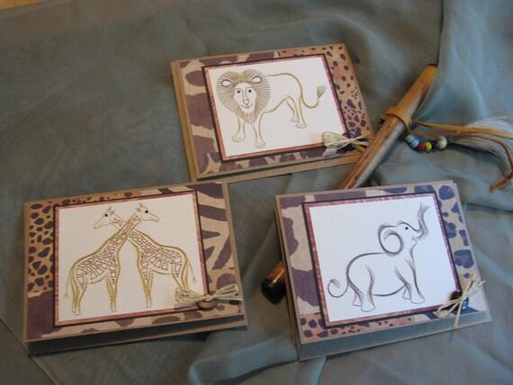 Safari Card Set Hand Stitched