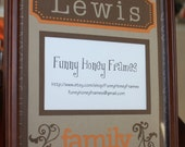 PERSONALIZED Custom Handmade family PICTURE frame MATTING- Matting only