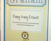PERSONALIZED/Custom PICTURE frame MATTING Baby boy lion- mattig only