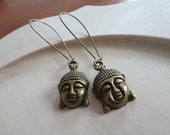 Buddha Bliss Brass Earrings