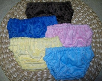 Minky Diaper Cover   So So Soft and Lots of Colors