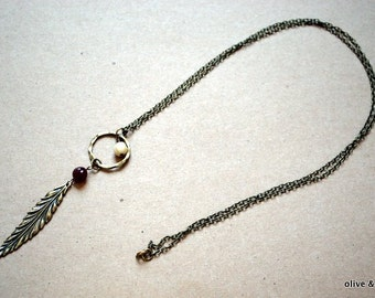 Long Loop and Feather Necklace