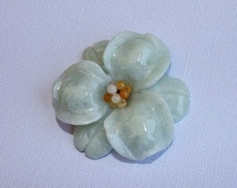 New Jade Flower Pendant