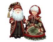 PDF Crochet Victorian Santa - Crochet Santa Pattern for Santa and Mrs Santa 13 Inches Tall (7058) Td creations