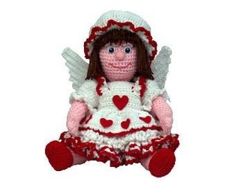 """PDF Amigurumi Angel - Crochet Angel Doll Pattern - 16"""" February Angel (7297) Td creations"""