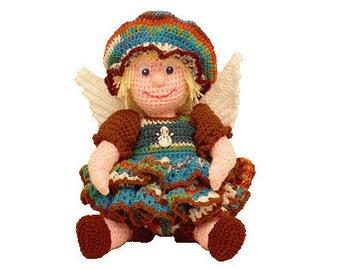 "PDF Amigurumi Doll Pattern - Crochet Doll Pattern - 16"" January Angel - (7289) Td creations"