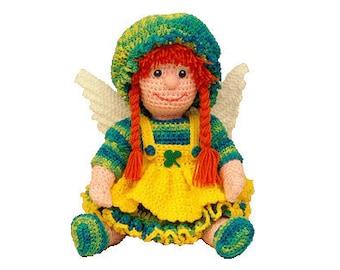 """PDF Amigurumi Doll - Crochet Doll Pattern 16 """" March Angel - (7290) Td creations"""