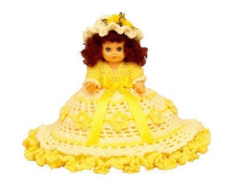 "PDF Crochet Bed Doll Pattern 13"" Bed Doll Lemon Ice (7185) Td creations"