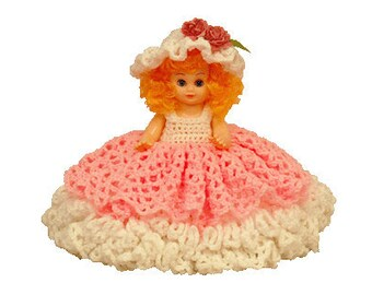 """PDF Crochet Bed Doll Pattern - 13"""" Bed Doll Pattern Alexis (7188) Td creations"""