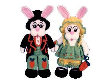"PDF Amigurumi Bunny Pattern 16"" Mama & Papa Crochet Easter Bunny Pattern (7085) Td creations"