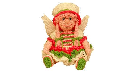 PDF Amigurumi Pattern Angel - Christmas Crochet Pattern - Crochet Angel 16 Inch Tall  All Yarn May Angel (7298) Td creations