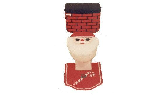 PDF Amigurumi Crochet Christmas Pattern - Crochet Santa Toilet Seat Cover  Pattern - (835) Td creations