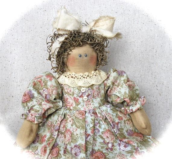 Primitive Country Rag Doll Vintage Style castteam