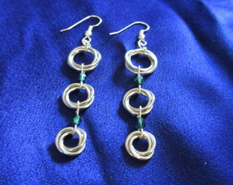 Customizable Moebius Chainmaille Earrings