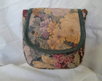 Spacious Floral and Green Belt Pouch