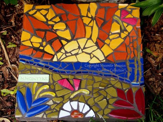 Morning Sunrise Mosaic Garden Stone (Ceramic Mosaic)