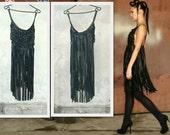Sexy leather bandeau dress