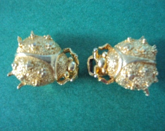 70s Mimi Di Niscemi Ladybug Ladybird Gold Belt Buckle